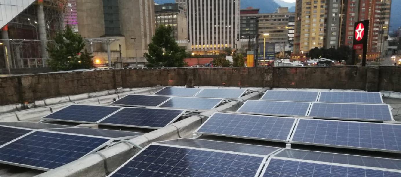 Sistema de Energía Solaren EDS Texaco 28